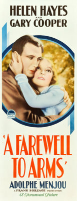 "A Farewell to Arms (Paramount, 1932). Insert (14"" X 36"")"