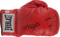 Boxing Collectibles:Autographs, Jones, Coto and Frazier Multi Signed Glove....