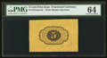 Fractional Currency:First Issue, Fr. 1231SP 5¢ First Issue Wide Margin Back PMG Choice Uncirculated 64.. ...