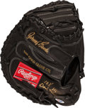 Baseball Collectibles:Hartland Statues, Johnny Bench Signed Catcher's Mitt. ...