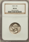 Washington Quarters: , 1963 25C MS66 NGC. NGC Census: (1027/63). PCGS Population (384/9).Mintage: 74,300,000. Numismedia Wsl. Price for problem f...