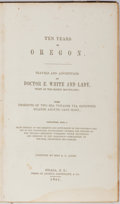 Books:Americana & American History, Miss A. J. Allen. Ten Years in Oregon. Andrus, Gauntlett,1850. Publisher's cloth with rubbing and abrading, chippin...