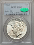 Peace Dollars, 1926-S $1 MS65 PCGS. CAC....