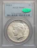 Peace Dollars, 1928-S $1 MS64 PCGS. CAC....