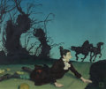 Mainstream Illustration, DOUGLASS CROCKWELL (American, 1904-1968). The Legend of SleepyHollow, probable story illustration. Oil on canvas. 18 x ...