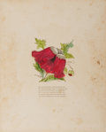 Books:Americana & American History, [Americana]. Satiric Moveable Ca. 1840's Valentine withHand-Coloring. Single-folded sheet with embossed stamping onfront....