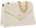 Luxury Accessories:Bags, Chanel Beige Lambskin Leather Flap Shoulder Bag. ...