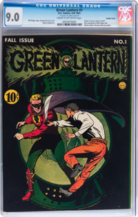 Green Lantern #1 Double Cover (DC, 1941) CGC VF/NM 9.0 Cream to off-white pages