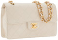 Luxury Accessories:Accessories, Chanel Ivory Caviar Leather Small Flap Bag with Gold Hardware. ...