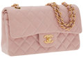 Luxury Accessories:Bags, Chanel Pink Lambskin Leather Classic Flap Bag with Gold Hardware....