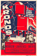 "Movie Posters:Science Fiction, Kronos (20th Century Fox, 1957). Poster (40"" X 60""). From theCollection of Wade Williams.. ..."