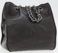 Luxury Accessories:Bags, Chanel Black Lambskin Leather Tote Bag with Silver Hardware. ...