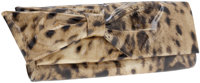 Christian Louboutin Metallic Leopard Patent Clutch Bag with Bow