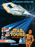 """Movie Posters:Science Fiction, Star Tours (Disney, 1986 & 1987). Presskit (9"""" X 12"""") &Posters (2) (18"""" X 24"""" & 20"""" X 30""""). From the collection ofthe la... (Total: 3 Items)"""
