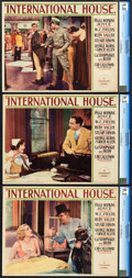 "Movie Posters:Comedy, International House (Paramount, 1933). CGC Graded Lobby Cards (3)(11"" X 14"").. ... (Total: 3 Items)"