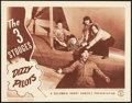 "Movie Posters:Comedy, The Three Stooges in Dizzy Pilots (Columbia, 1943). Lobby Card (11""X 14"").. ..."