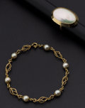 Estate Jewelry:Suites, Shell, Cultured Pearl, Gold Jewelry. ... (Total: 2 Items)