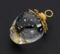 Estate Jewelry:Pendants and Lockets, Lead Glass, Gold Pendant, Donald Pollard for Steuben Glass. ...