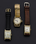 Timepieces:Wristwatch, Three Vintage Gent's Wristwatches Runners. ... (Total: 3 Items)