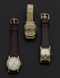 Timepieces:Wristwatch, Three Hamilton Vintage Wristwatches Runners. ... (Total: 3 Items)