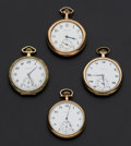 Timepieces:Pocket (post 1900), A Lot Of Four 12 Size Pocket Watches. ... (Total: 4 Items)