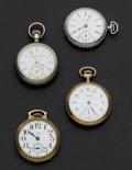 Timepieces:Pocket (post 1900), Two Elgin & Two Waltham Pocket Watches. ... (Total: 4 Items)