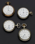 Timepieces:Pocket (post 1900), A Lot Of Four 18 Size Pocket Watches Runners. ... (Total: 4 Items)