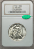 Walking Liberty Half Dollars, 1937 50C MS65 NGC. CAC; 1938 MS65 NGC. CAC.. From The Zack FluhrCollection.... (Total: 2 coins)