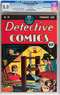 Detective Comics #24 Mile High pedigree (DC, 1939) CGC VF 8.0 White pages