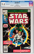 Bronze Age (1970-1979):Science Fiction, Star Wars #1 35¢ Variant (Marvel, 1977) CGC NM 9.4 White pages....