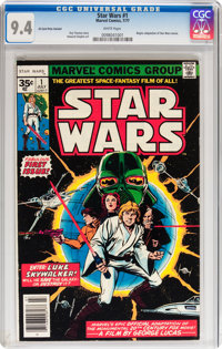Star Wars #1 35¢ Variant (Marvel, 1977) CGC NM 9.4 White pages