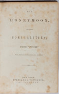 """Books:Literature Pre-1900, [Punch]. Our Honeymoon, and Other Comicalities, from""""Punch"""". Stringer & Townsend, 1854. Publisher's decoratedc..."""