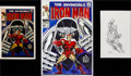 Original Comic Art:Covers, George Tuska Iron Man #8 Gladiator Cover Re-Creation Original Art (undated)....