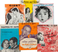Memorabilia:Movie-Related, Movie Related Sheet Music Group (1930s-50s).... (Total: 6 Items)