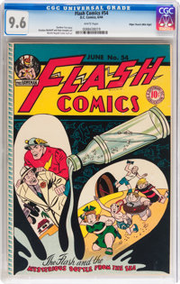 Flash Comics #54 Mile High pedigree (DC, 1944) CGC NM+ 9.6 White pages