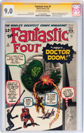 Silver Age (1956-1969):Superhero, Fantastic Four #5 Signature Series (Marvel, 1962) CGC VF/NM 9.0Off-white to white pages....