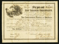 Confederate Notes:Group Lots, Ball 369 Cr. UNL $5000 1865 Six Per Cent Non Taxable CertificateFine-Very Fine.. ...