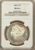 Morgan Dollars, 1880-S $1 MS63 ★ NGC. NGC Census: (21827/97964). PCGS Population(28065/97408). Mintage: 8...