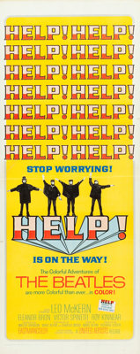 "Help! (United Artists, 1965). Insert (14"" X 36"")"