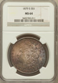 Morgan Dollars: , 1879-S $1 MS64 NGC. NGC Census: (36317/30455). PCGS Population(35795/31131). Mintage: 9,110,000. Numismedia Wsl. Price for...