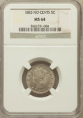 Liberty Nickels: , 1883 5C No Cents MS64 NGC. NGC Census: (2249/2382). PCGS Population(3166/1759). Mintage: 5,479,519. Numismedia Wsl. Price ...