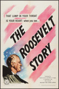 "Movie Posters:Documentary, The Roosevelt Story (United Artists, 1948). One Sheet (27"" X 41""), and Lobby Card Set of 8 (11"" X 14""). Documentary.. ... (Total: 9 Items)"