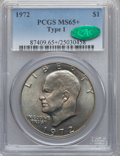 Eisenhower Dollars, 1972 $1 Type One MS65+ PCGS. CAC. PCGS Population (317/4). Numismedia Wsl. Price for problem free NGC/P...