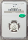 Barber Dimes: , 1896 10C MS64 NGC. CAC. NGC Census: (28/25). PCGS Population(33/28). Mintage: 2,000,762. Numismedia Wsl. Price for problem...
