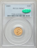 Gold Dollars: , 1889 G$1 MS63 PCGS. CAC. PCGS Population (388/1593). NGC Census:(249/1262). Mintage: 29,000. Numismedia Wsl. Price for pro...