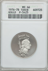 (1976-1978) Gould Incorporated Private Pattern MS66 ANACS. Pollock-5425....(PCGS# 62401)