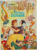 Original Comic Art:Covers, Snow White and the Seven Dwarfs Coloring Book Cover OriginalArt (c. 1938)....