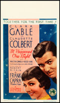 "Movie Posters:Academy Award Winners, It Happened One Night (Columbia, 1934). Midget Window Card (8"" X14"").. ..."