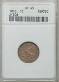 Patterns: , 1858 P1C Flying Eagle Cent, Judd-206, Pollock-242, R.5, PR45 ANACS. NGC Census: (0/21). PCGS Population (0/40). ...