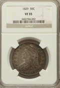 Bust Half Dollars: , 1829 50C Small Letters VF35 NGC. NGC Census: (41/1047). PCGSPopulation (85/1238). Mintage: 3,712,156. Numismedia Wsl. Pric...